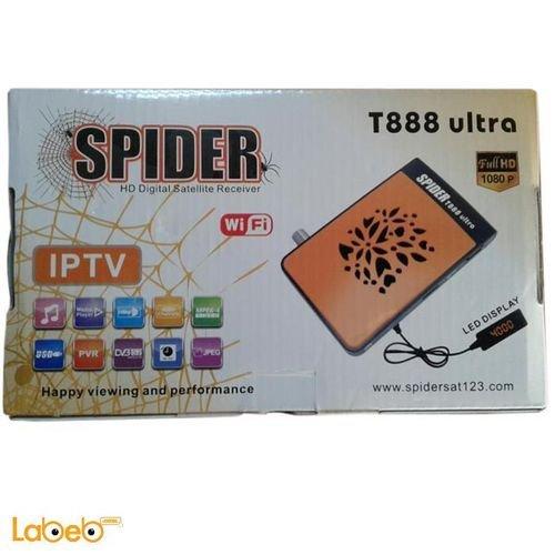 رسيفر سبايدر T888 ultra واي فاي لون برتقالي T888 ultra ip tv