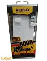 Remax power bank 8000mAh 180g White color KP8000