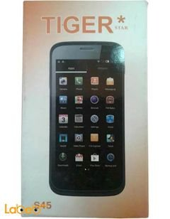 Tiger S45 smartphone - 4GB - 4.5inch - 5MP - Black color