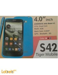 Tiger S42 smartphone - 4GB - 4Inch - Blue color