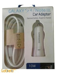 Samsung car adapter - for samsung S4/NOTE 3 - 10W - USB - white