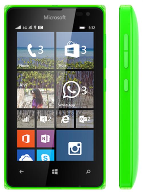 جانب موبايل مايكروسوفت لوميا 532 دوال سيم اخضر