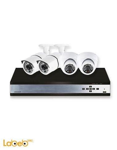 نظام كاميرات حماية CCTV تايجر - 4 كاميرات - ابيض - موديل K50