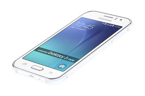 Samsung galaxy J1 ace smartphone screen white color