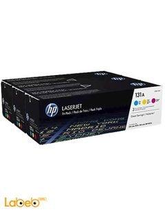 مجموعة احبار HP - الوان اصفر ازرق ووردي - ليزر جيت - U0SL1AM