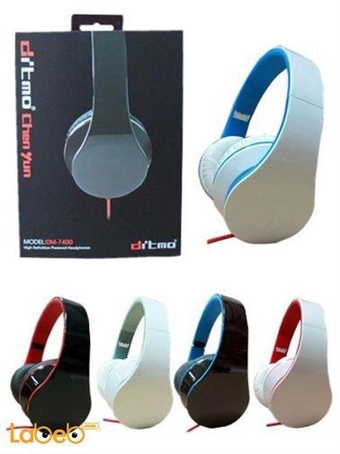 سماعة رأس ديتمو -  3.5 ملم - لون ابيض - DM-7400