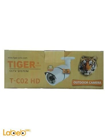 كاميرا مراقبة خارجية تايجر - 720 بكسل -  ليلي نهاري - T-c02 HD