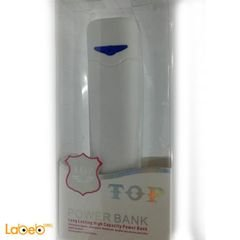 TOP Power Bank - 2600mAh - USB - white color