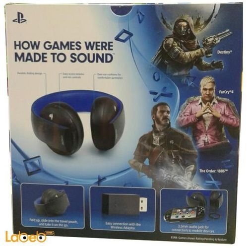 Bluetooth wireless PlayStation Headset with microphone