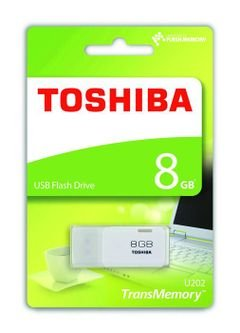 Toshiba USB Flash Drive - 8GB - White - THN-U202W0080E4