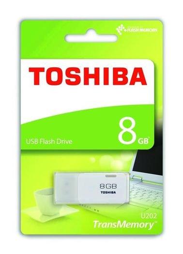 فلاش USB توشيبا - 8 جيجابايت - ابيض - THN-U202W0080E4
