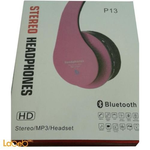 Wireles Headphones Pink P13