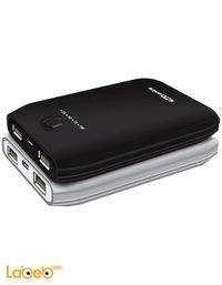 بطارية محمولة بورترونيكس 10000mAh مخرجين USB اسود