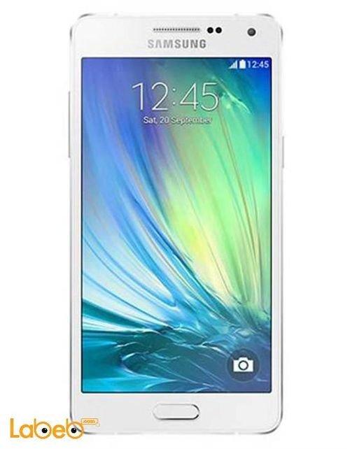 White Samsung Galaxy A5 smartphone