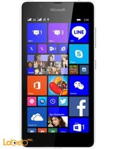 موبايل مايكروسوفت لوميا 540 دوال سيم - 8 جيجابايت - 5 انش - اسود