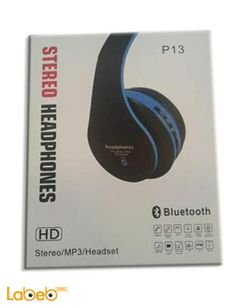 Wireles Headphones Stereo - Bluetooth 4.0 - black and blue - P13