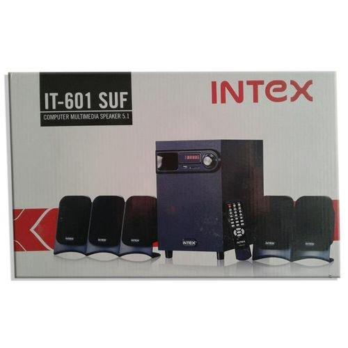 مضخم صوت انتيكس - 5 سماعات - 35 واط - اسود - intex it-601 suf