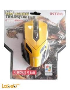 Intex transformer Mouse - 6 Buttons - Yellow color - IT-OP109