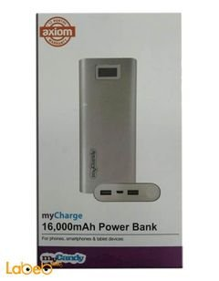 My candy PowerBank - 16000 mAh - Two usb outpout - silver color