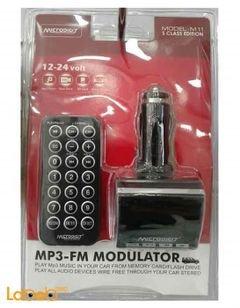 Microdigit MP3 FM Modulator - 12-24V - USB - remote control - M11