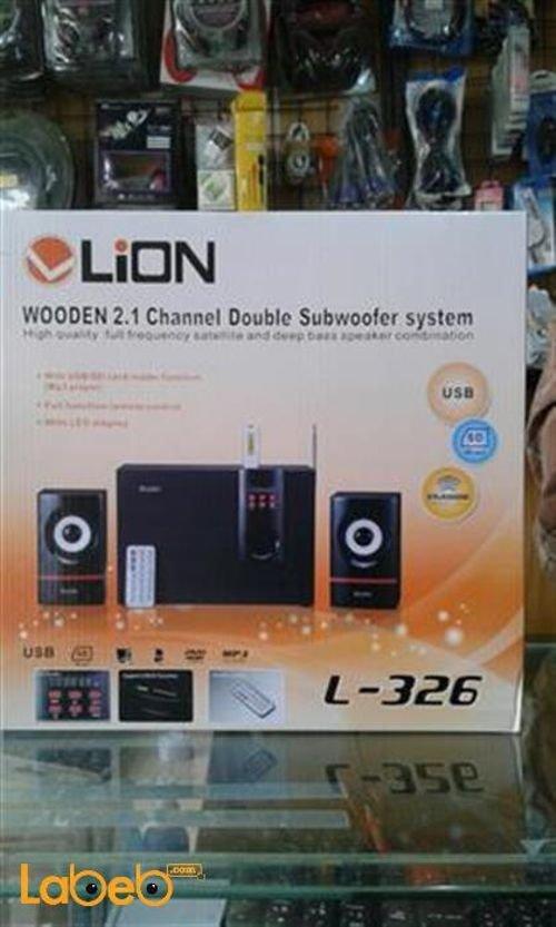مكبرات صوت وراديو ليون USB سماعتين وصب ووفر L-326