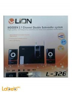 Lion speakers & radio - USB - 2 Speakers & sub woofer - L-326