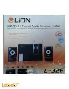 مكبرات صوت وراديو ليون - USB - سماعتين وصب ووفر - L-326