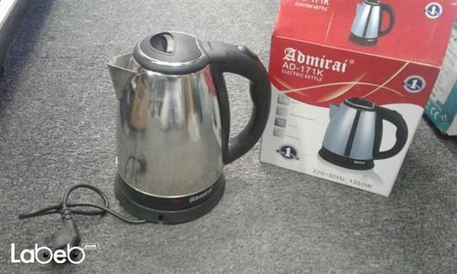 Admirai electric kettle 1350 Watt Silver AD -171K