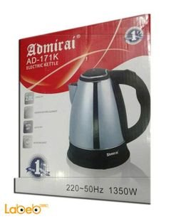 Admirai electric kettle - 1350 Watt - 2L - Silver - AD-171K