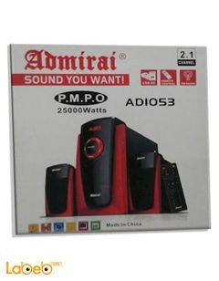 Aadmirai Speaker - 25000W - 2.1channel - USB - FM Radio - ADIO53