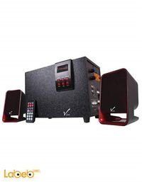 مكبر صوت وراديو فيرا 2.1 للكمبيوتر 3300W احمر VI-316R