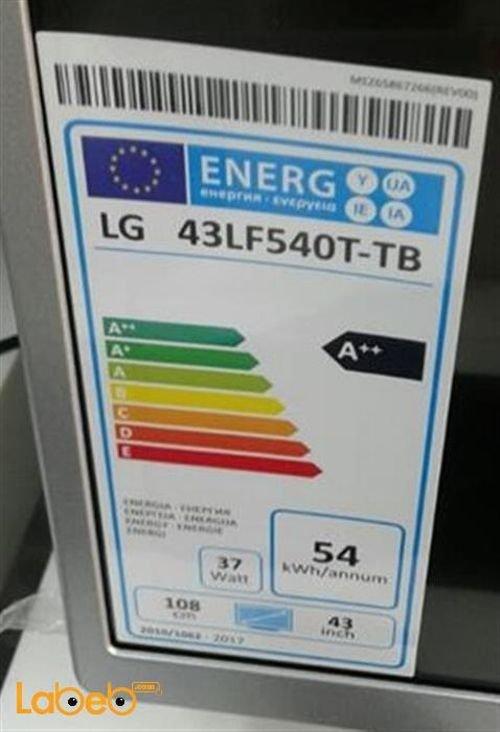 مواصفات شاشة تلفزيون ال جي LED حجم 43 HD موديل 43LF540T-TB