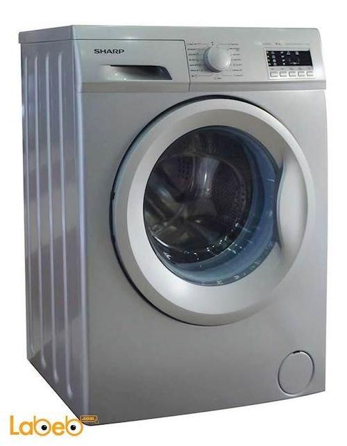 Silver Sharp front load Washing Machine 7Kg ES-FE710AZ-S