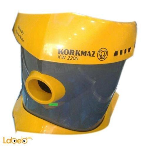 مكنسة كهربائية كوركماز 2200 كيلو واط لون أصفر