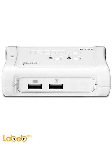 مودم ديسك توب سويتش تريندنت - 2 منافذ USB - ابيض - TK-207K