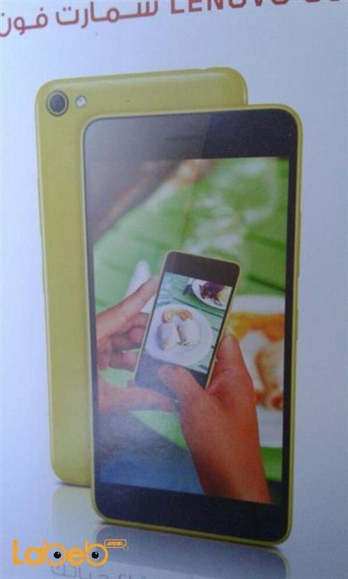 موبايل لينوفو S60 ذاكرة 8 جيجابايت اصفر دوال سيم