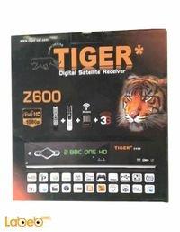 رسيفر تايجر z600 منفذين USB واي فاي 1080 بكسل يدعم 3G