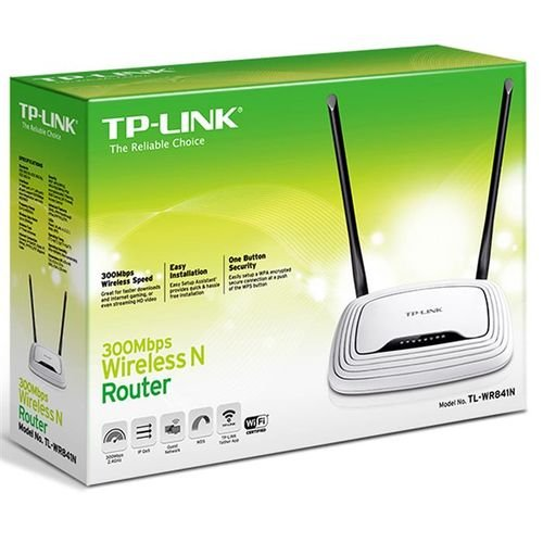 راوتر TP-Link لاسلكي 300 ميجابايت ابيض موديل TL-WR841N