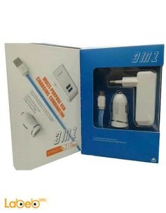 Ldnio charge port - 2 USB - Charge cable - White color - S100