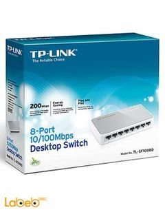 موصل شبكات TP Link - يشمل 8 مخارج 100Mbps - موديل TL-SF1008D