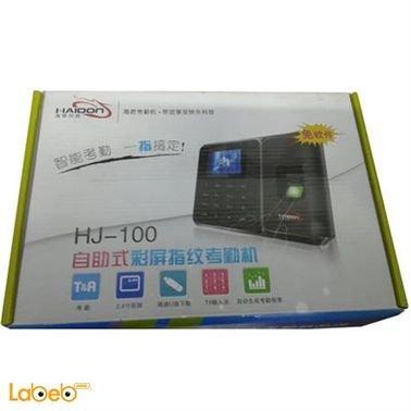 جهاز بصمة أصبع هايدون - 1000 موظف - 1500 بصمة - اسود - HJ-100