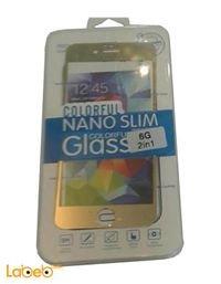 لصقة لحماية شاشة الهاتف ملونة لايفون 6 ذهبي