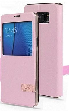 USAMS Cover and protector - for Galaxy note 5 - pink color