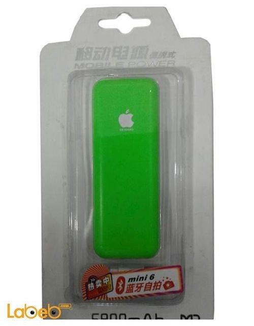 بطارية محمولة 5800mAh اخضر صناعة صينية