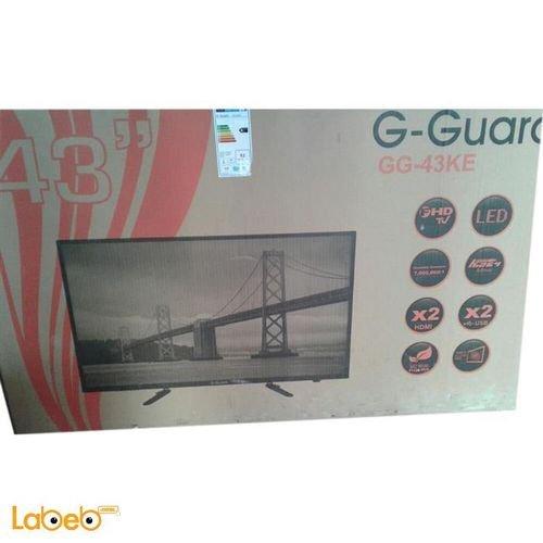 شاشة G-Guard led حجم 43 انش اسود GG-43 KE