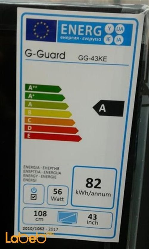 صفات شاشة G-Guard led حجم 43 انش اسود GG-43 KE