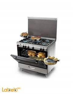 Kiriazi 5 burners gas oven - 90x60cm - Silver - 9600 Model