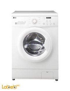 LG Front Load Washer - 7kg - 1000rpm - White - F10C3QD