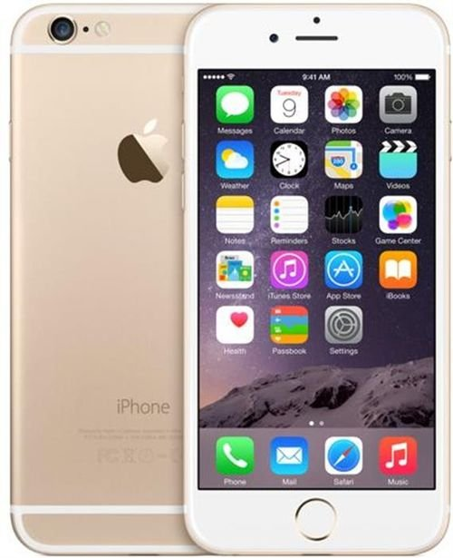 gold Apple iPhone 6 128GB camera