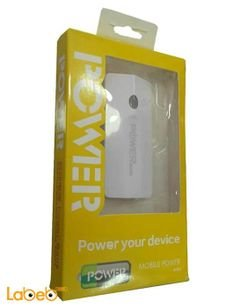 Chinese External Power Bank - capacity 5600mAh - white color